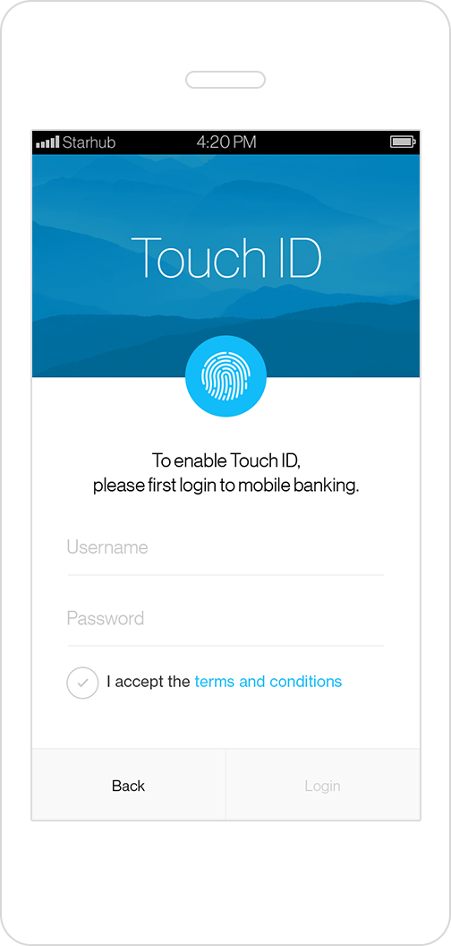 Standard Chartered Touch Login Service -Enable ID
