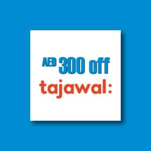 AED300 off Tajawal.ae - a Platinum X card discount