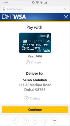 Pay with Standard Chartered Visa Checkout