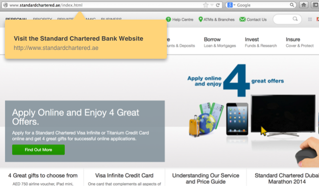 Standard Chartered apply online