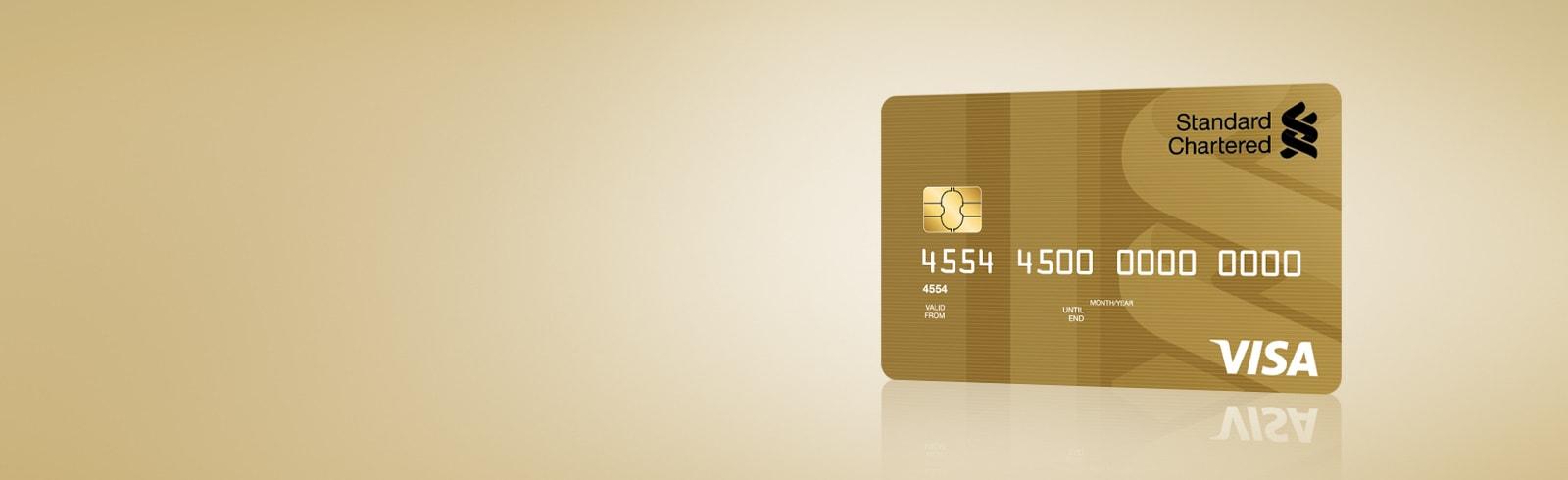 Gold visa card bannerx