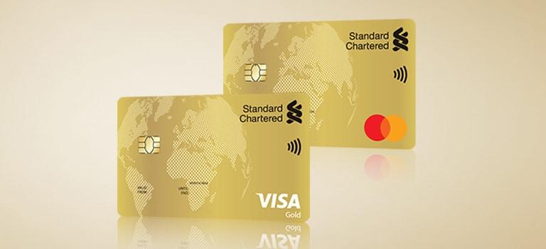 Gold Visa/MasterCard Credit Card