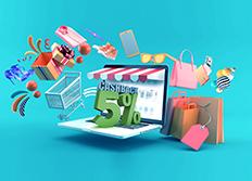 Shop online and get 5%* cashback.