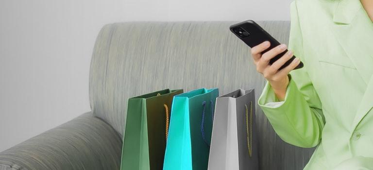 Shopping Bag, Bag, Mobile Phone