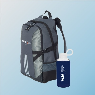 Adidas Backpack and Karma Water Bottle