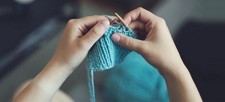 Knitting, Person, Human