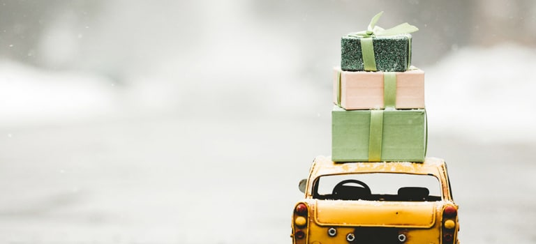 Benefits offers gifts presents car toy box shopping delivery x px