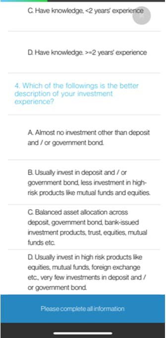 Update Investment Profile