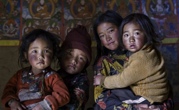Four Children, Serchul County, Kham, Tibet, 2007
