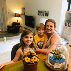 Picture of Abigail and children