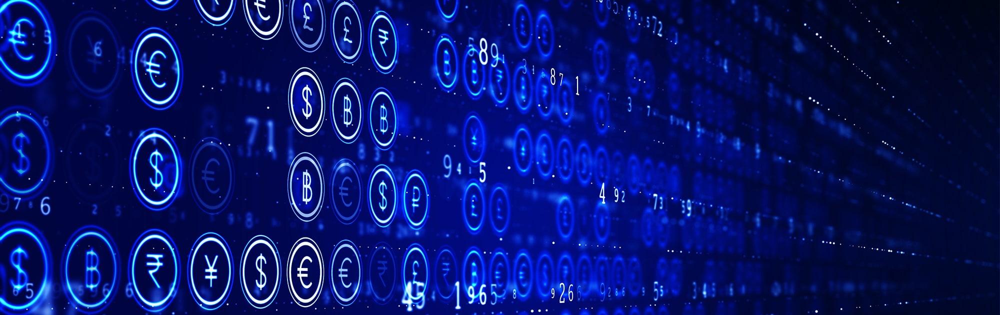 Banner of digital currencies