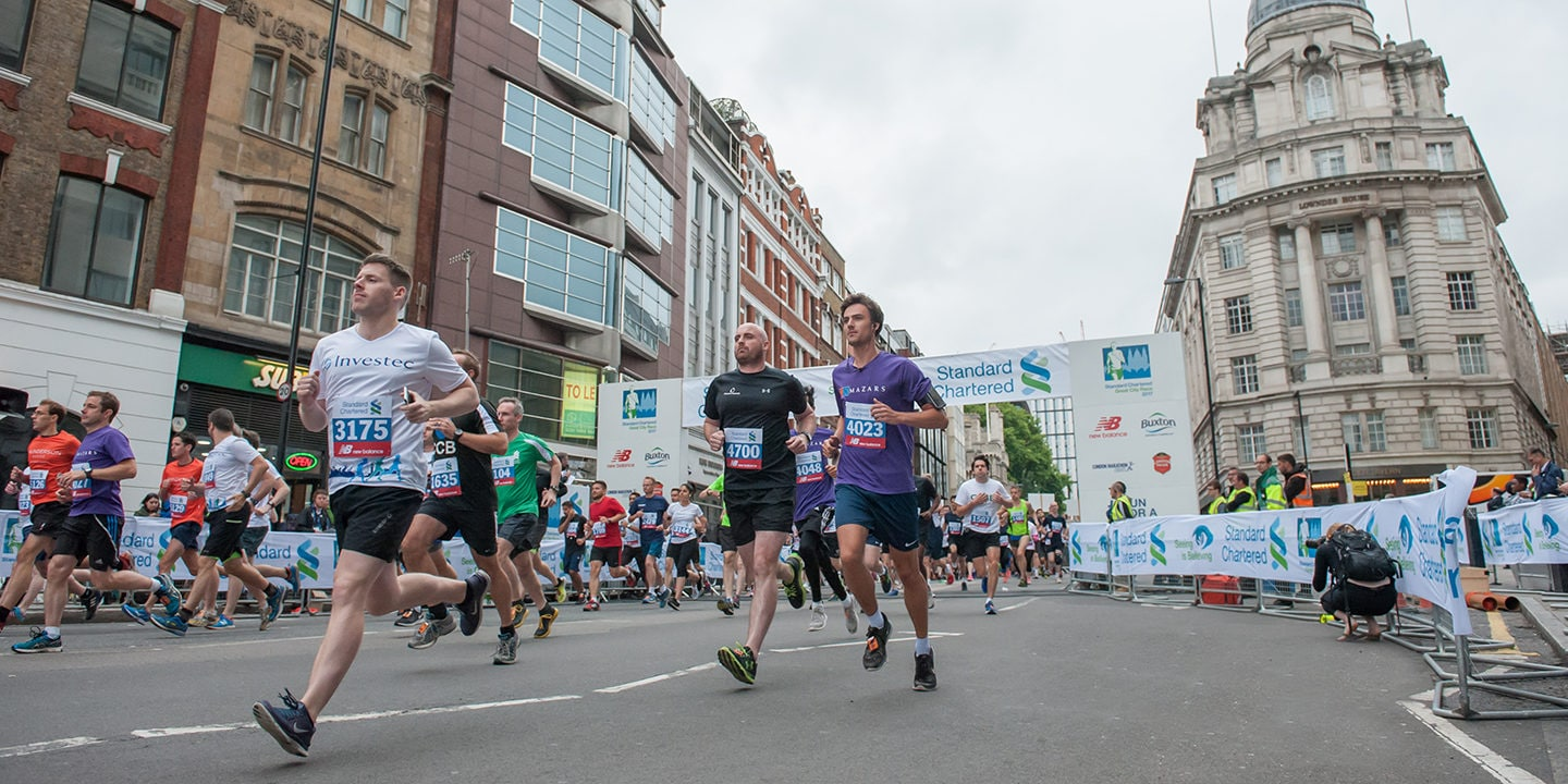 People running in Standard Chartered London City Race 2017
