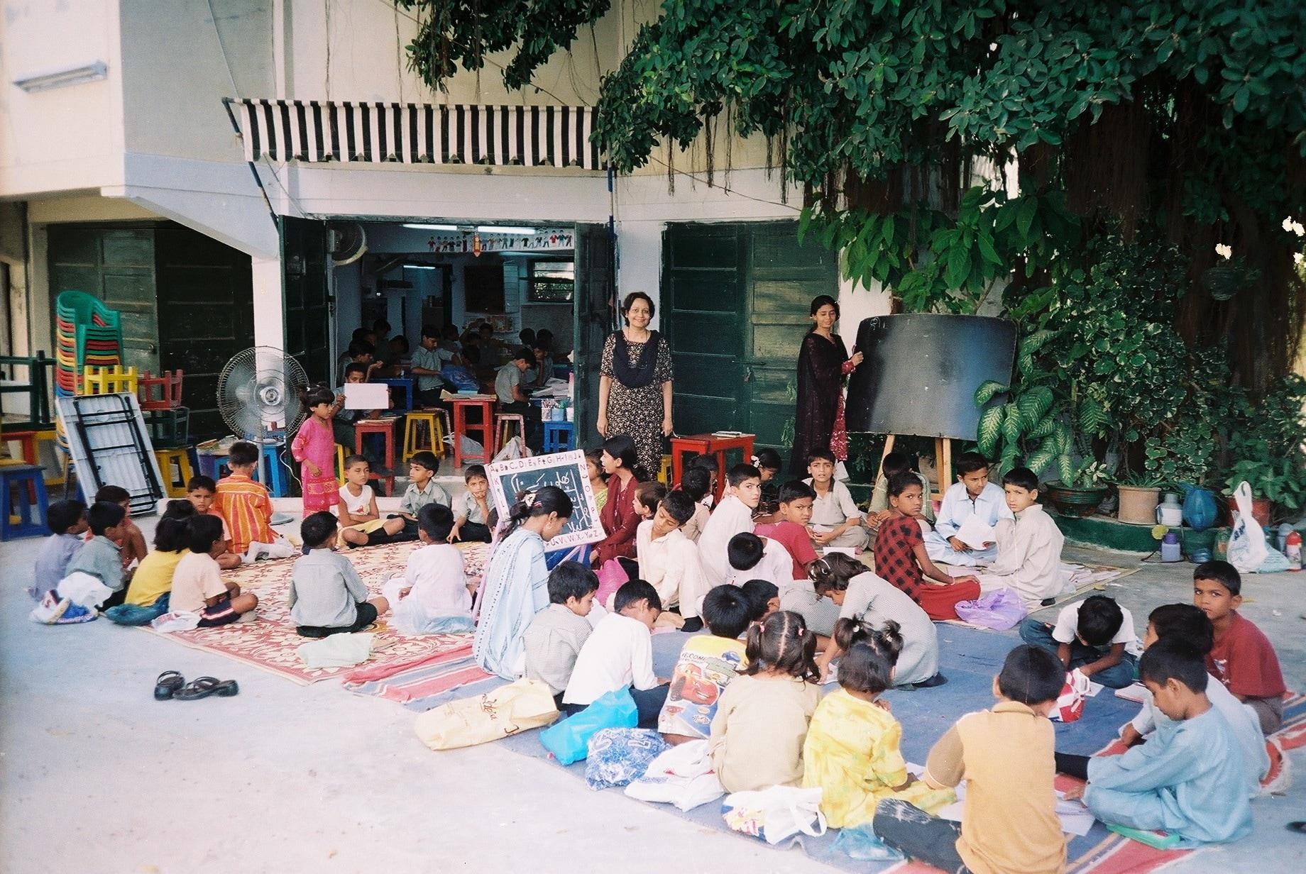 Teaching children outside