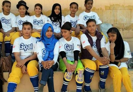 Goal Farzana Blue Scarf Pakistan 2019