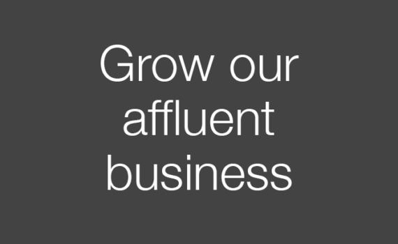 Grow our affluent business