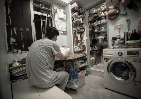 HK subdivided apartment covid donation
