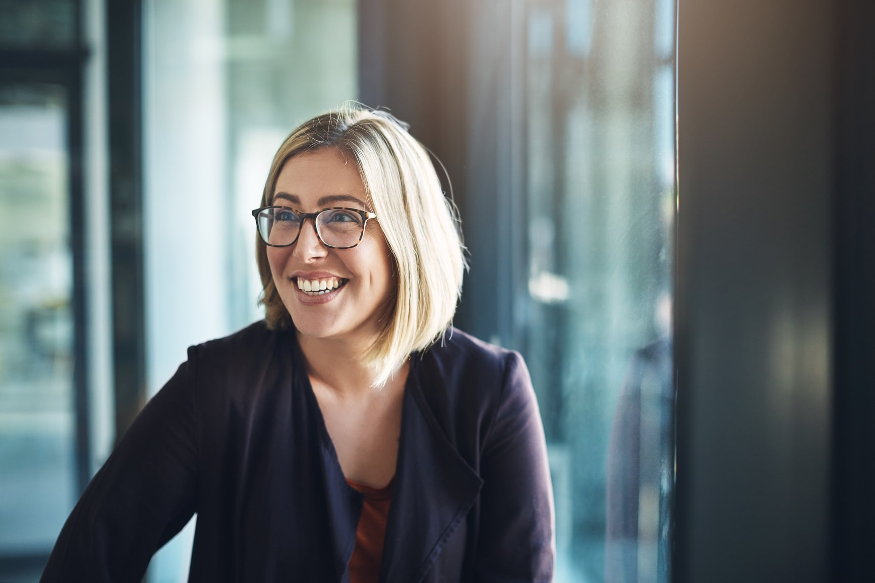 Woman in a modern office