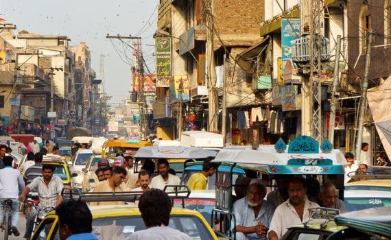 Busy street in Pakistan