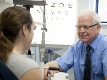 Professor Peter Scanlon with patient