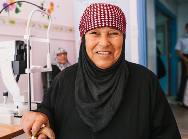 Women at a screening centre - Developing pioneering ideas for blindness prevention
