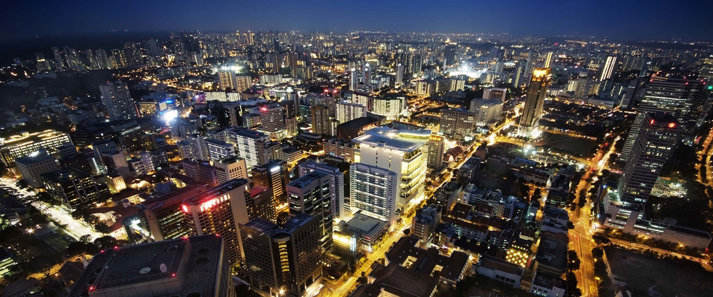 City lights of Singapore