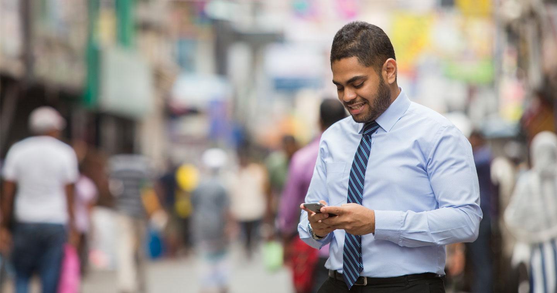 Customer checking Straight2Bank app