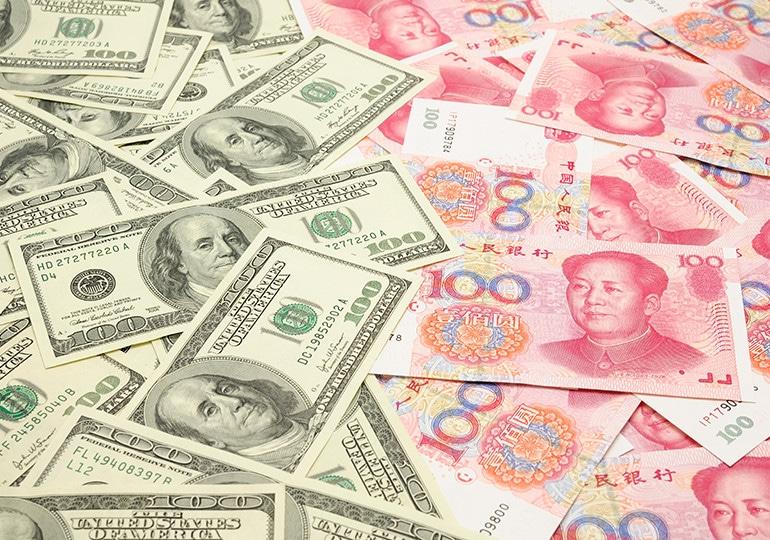 paper money spread across table