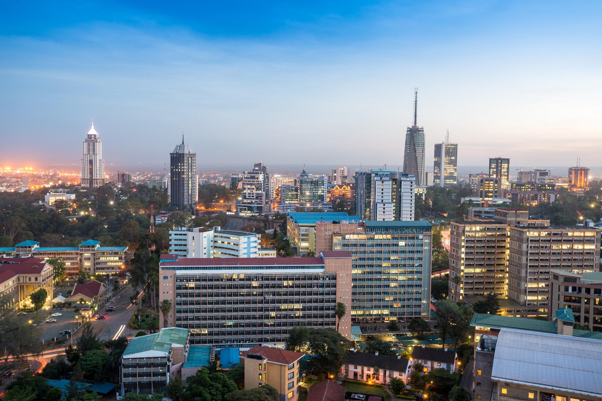 City view of Kenya in East Africa