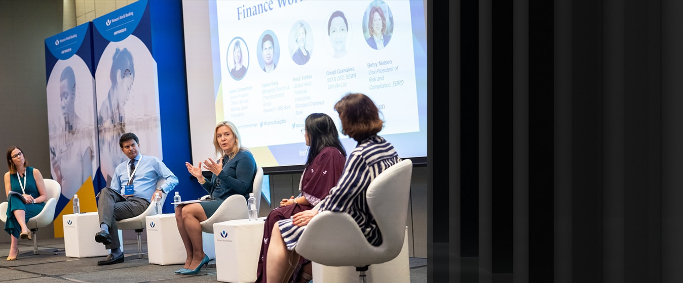 Discussion at Women's World Banking Summit in Singapore