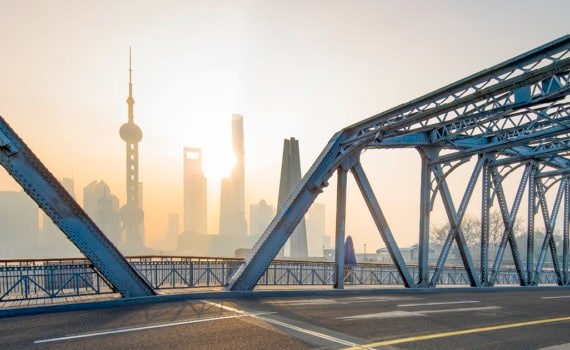 view of China skyline