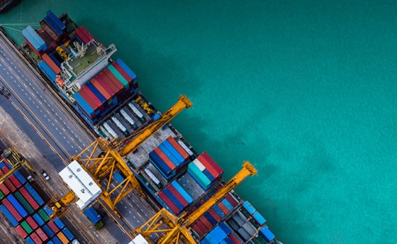 Image of container cargo ship