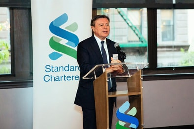 Standard Chartered's group chairman, José Viñals discussing cyber crime