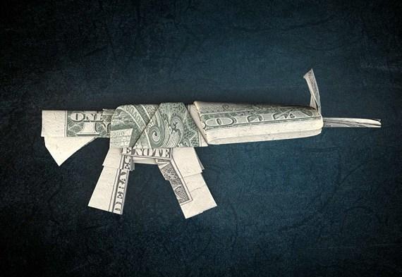 gun made of money