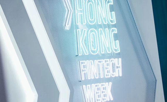 Image of Hong Kong Fintech Week Sign