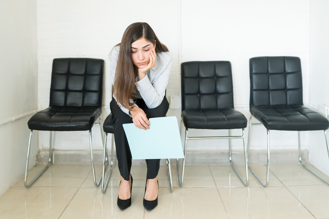 Women waits for job interview