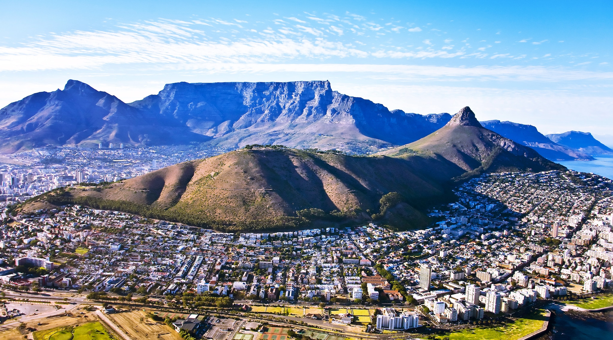 Landscape view of Cape Town in South Africa