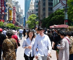 Couple in street setting