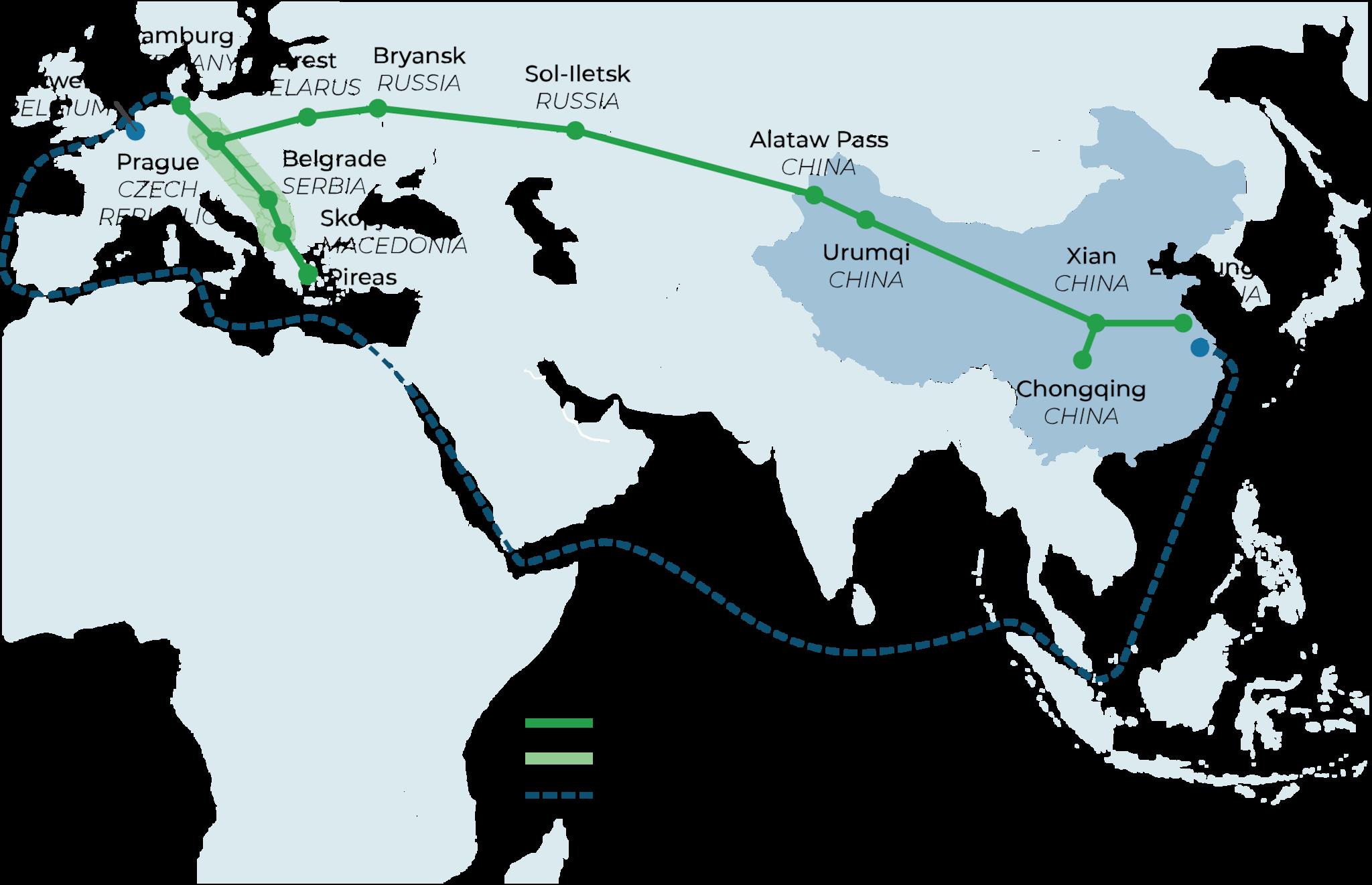 New Eurasian Land Bridge corridor