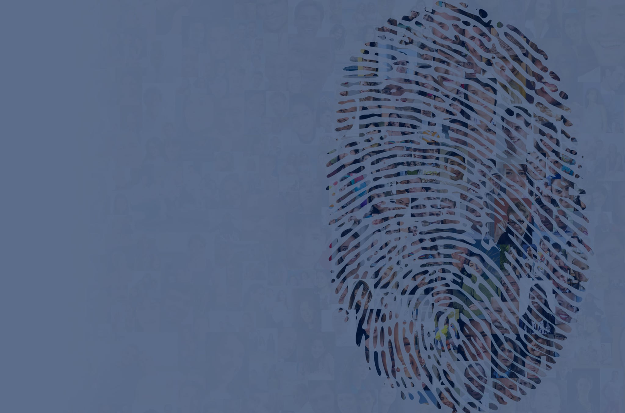 colourful thumbprint