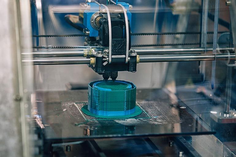 Image of machine printing