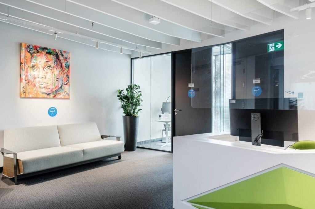 Standard Chartered office in Warsaw reception area