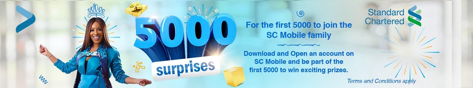 5000 surprises
