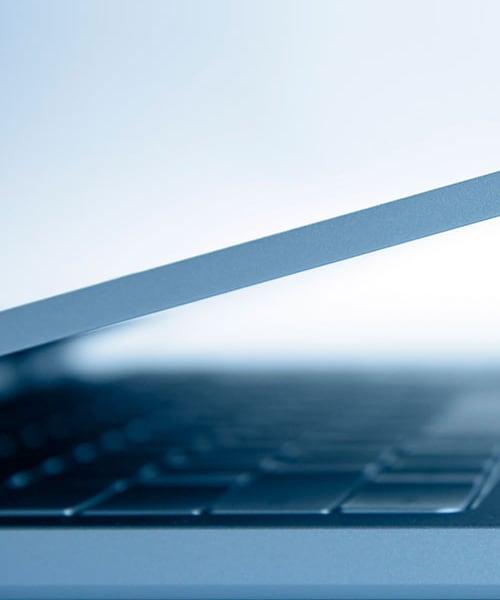 Digital banking laptop