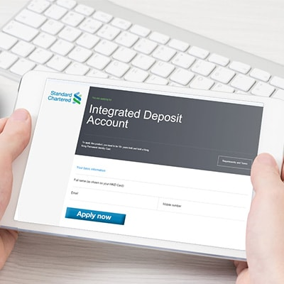Apply Integrated Deposit Account now!