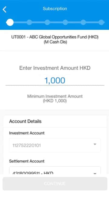 Enter Investment Amount HKD