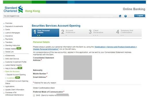 Help Centre – Online Securities Service FAQ – Standard Chartered