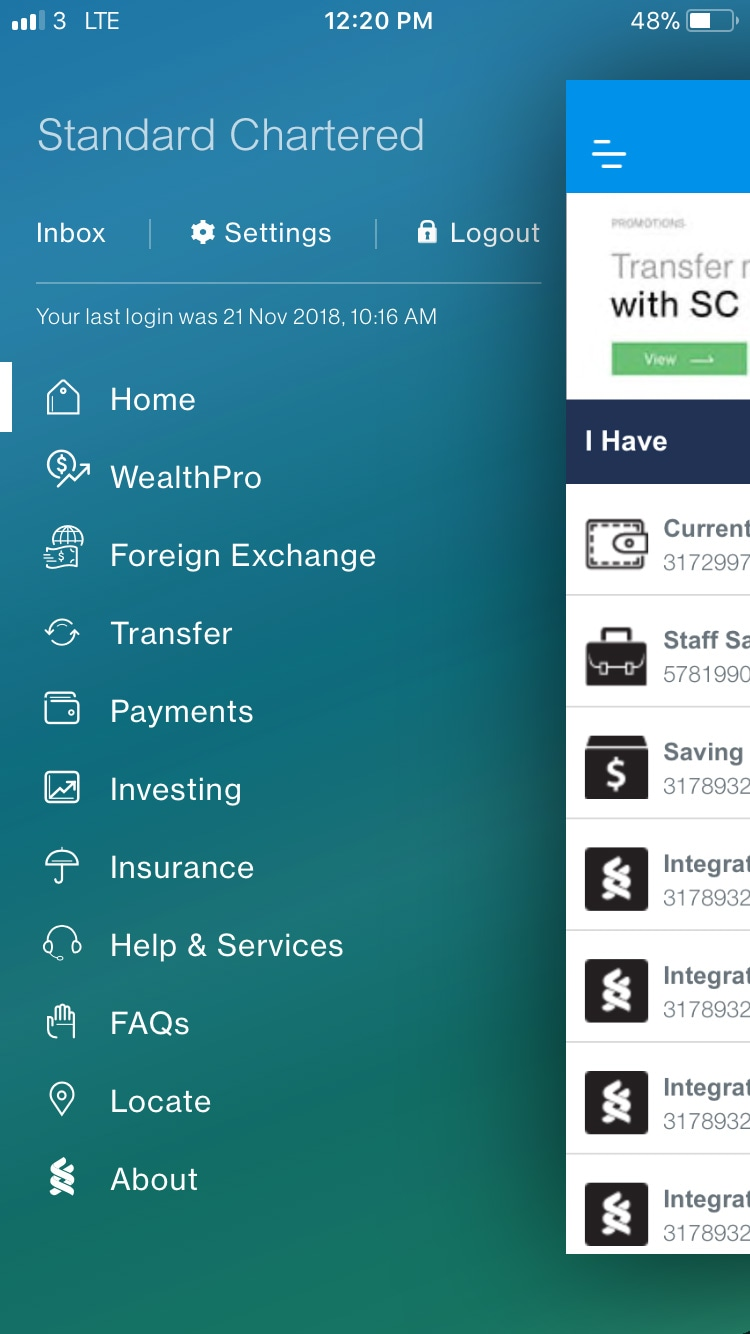 "in the menu sidebar, Select ""Foreign Exchange""."