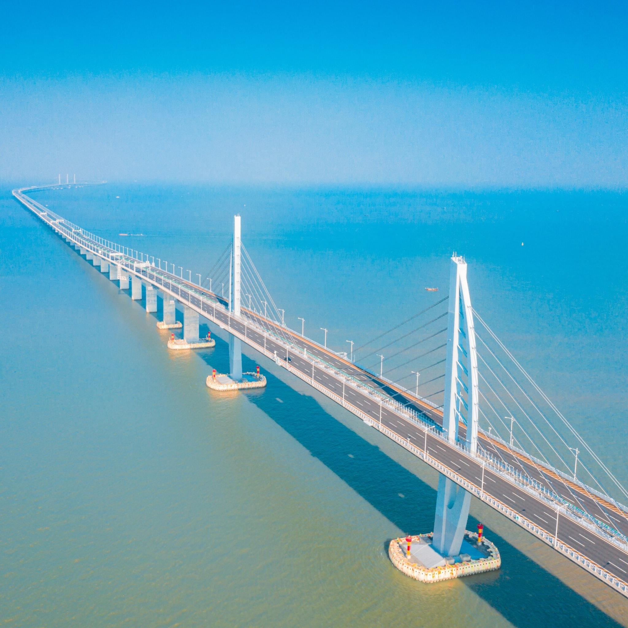 Bridge, Building, Road
