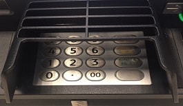 a photo of the Keypad of Automated Teller Machines