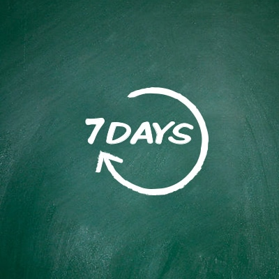 """7Days"" written on blackboard represents the 7-days cooling-off period"